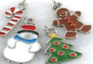 Christmas collar charms