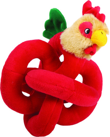 Loopies soundchip talking rooster dog toy