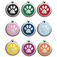 Red Dingo Cat Tag pawprint