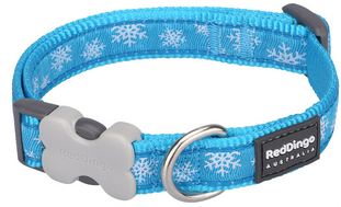 Red Dingo Christmas Dog Collar Snowflake