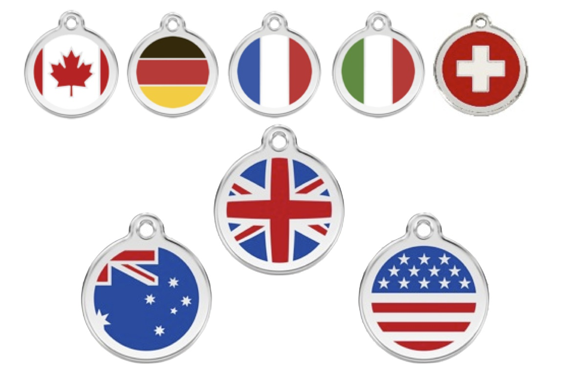 Red Dingo Dog Tag Flags