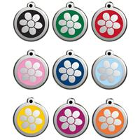 Red Dingo Dog Tag flower