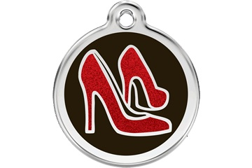 Red Dingo Dog Tag Glitter Shoe