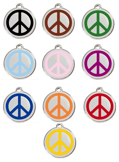 Red Dingo Dog Tag Peace