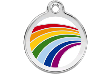 Red Dingo Dog Tag Rainbow