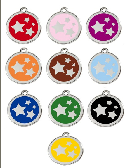 Red Dingo Dog Tag with Stars