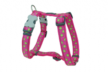 red dingo dog collar hot pink with lime green stars. Black Bedroom Furniture Sets. Home Design Ideas